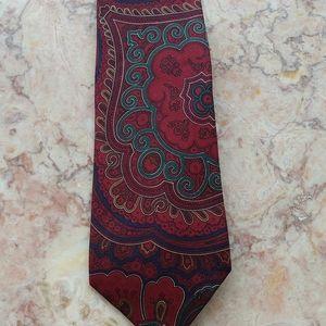 Brooks Brothers Hand Printed Italian Silk Tie